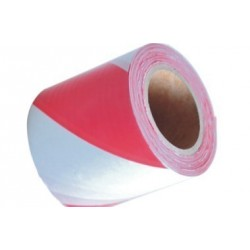 Ruban de chantier Blanc-rouge 75 mm x 250 m